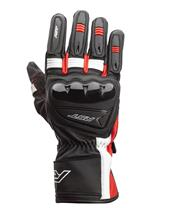 RST Pilot CE Gloves Leather Black/Red/White Size L Men